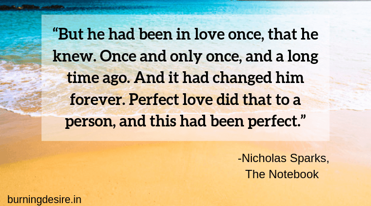 Nicholas Sparks quotes from The Notebook