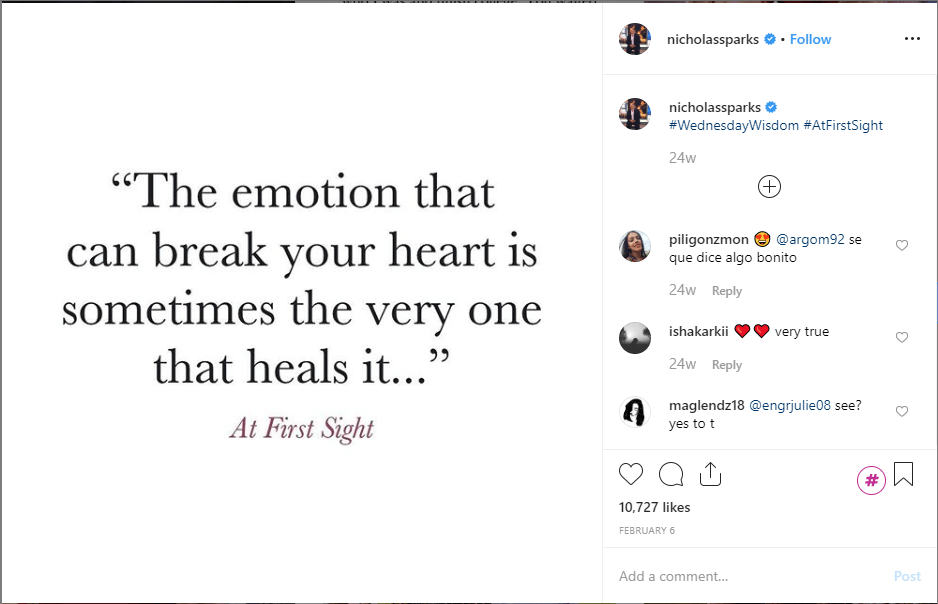 sharing quotes on Instagram