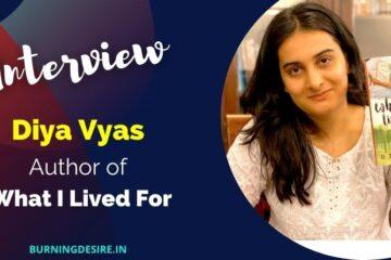 author diya vyas interview