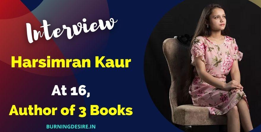 author harsimran kaur interview